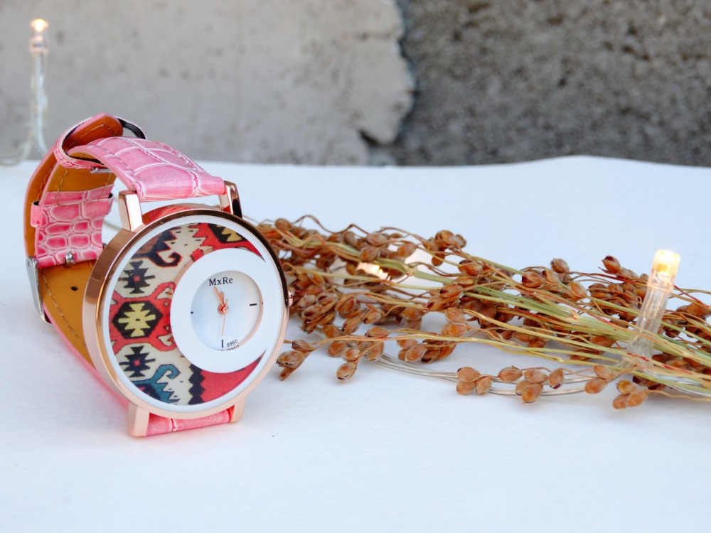 Часовник кука и канатица розов