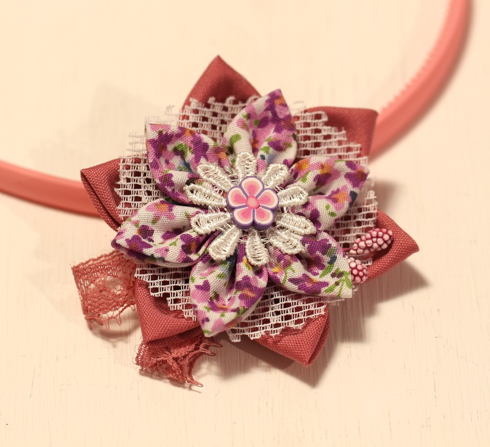 Диадема розово и лилаво