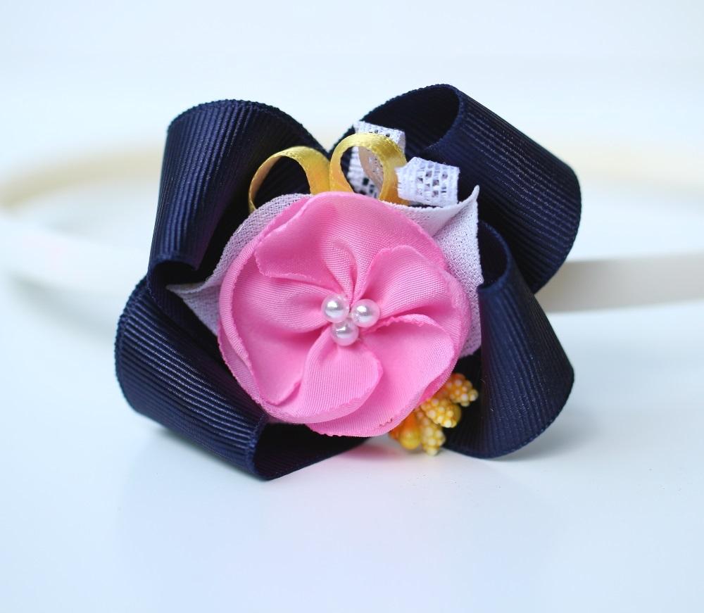 Диадема тъмно синьо и розово