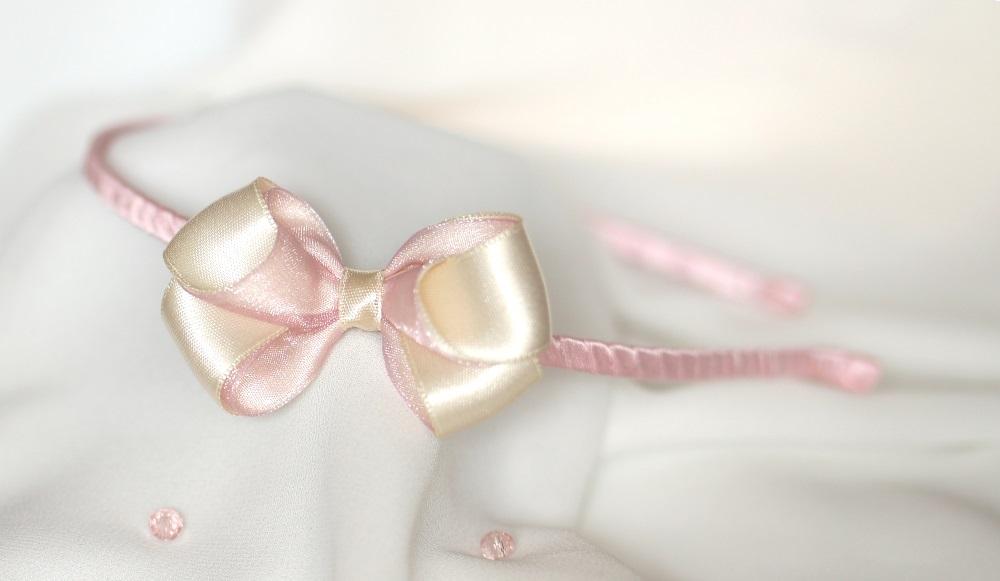 Детска диадема с панделка