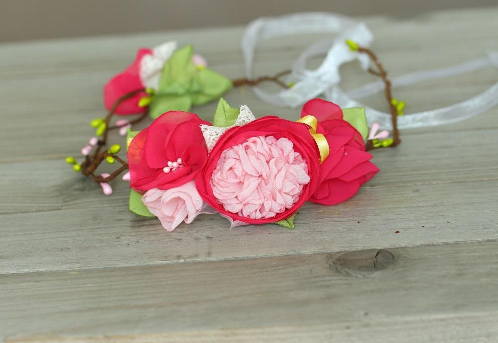 Венче за глава в розово