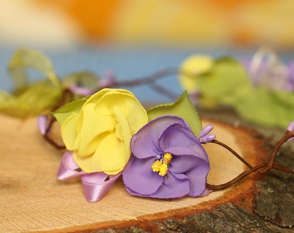 Венец за глава в лилаво
