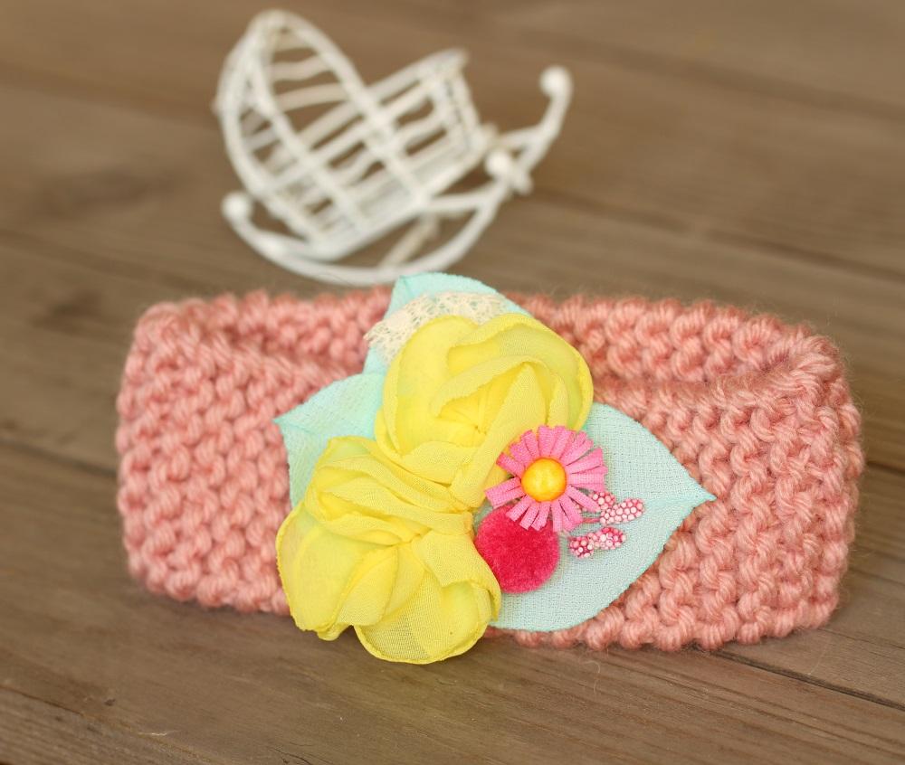 Плетена лента с цвете