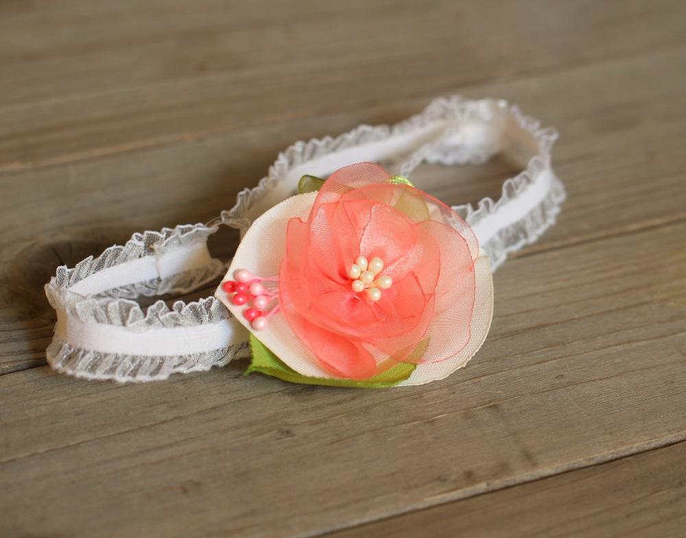Лента в коралово розово