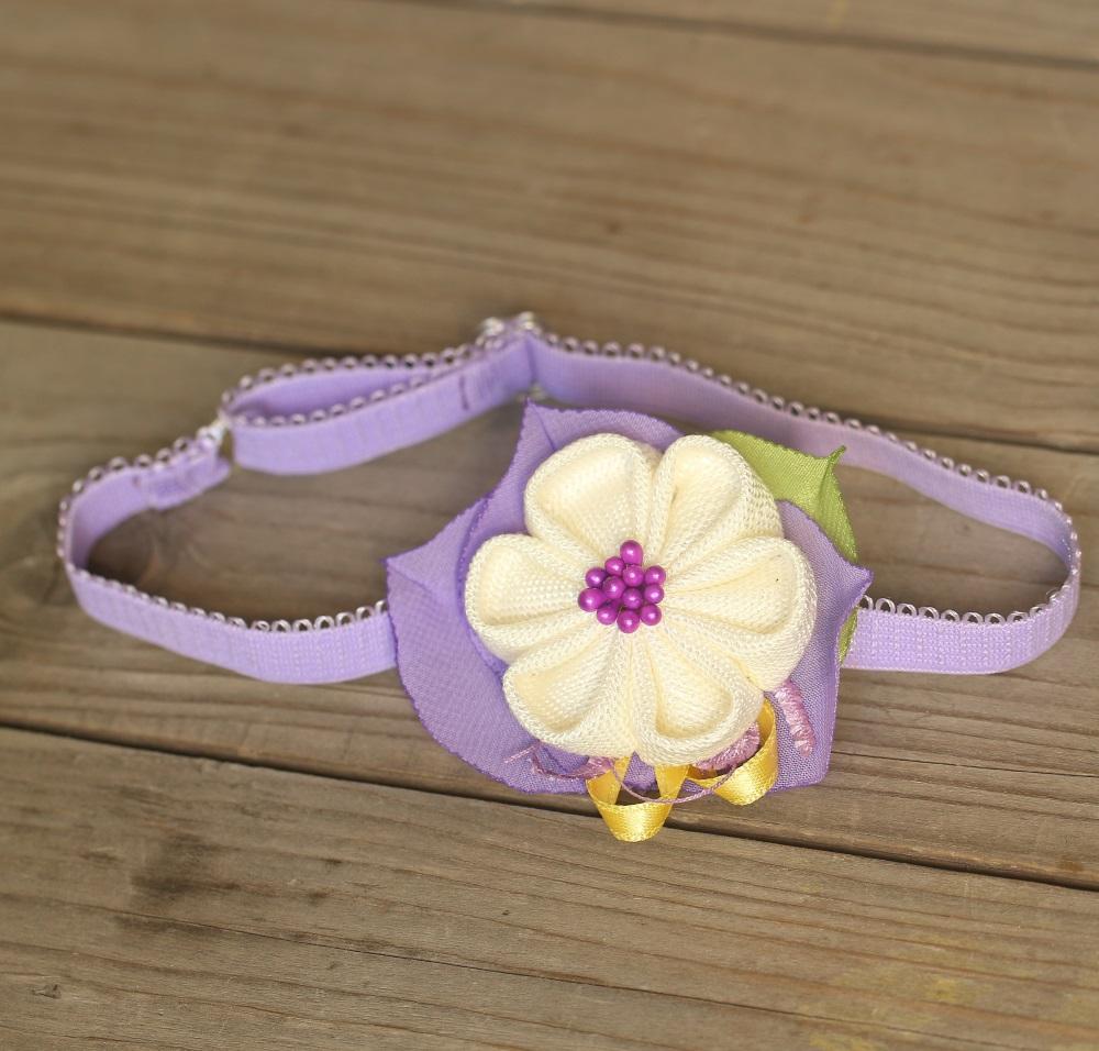 Лента за бебе лилаво