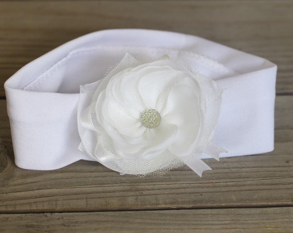 Бяла памучна лента