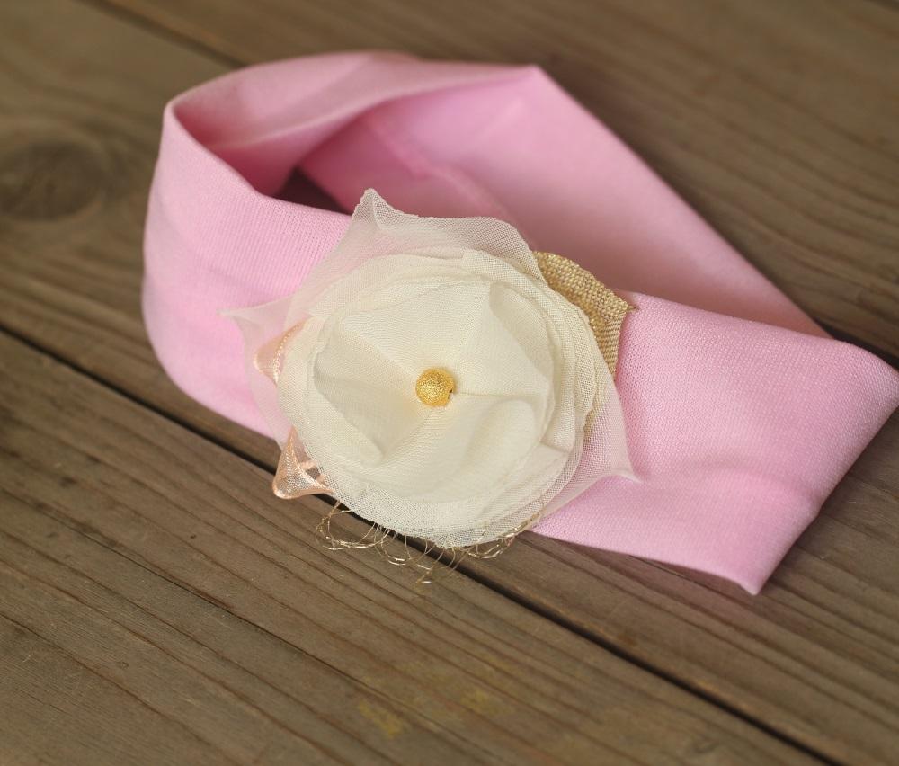 Розова памучна лента