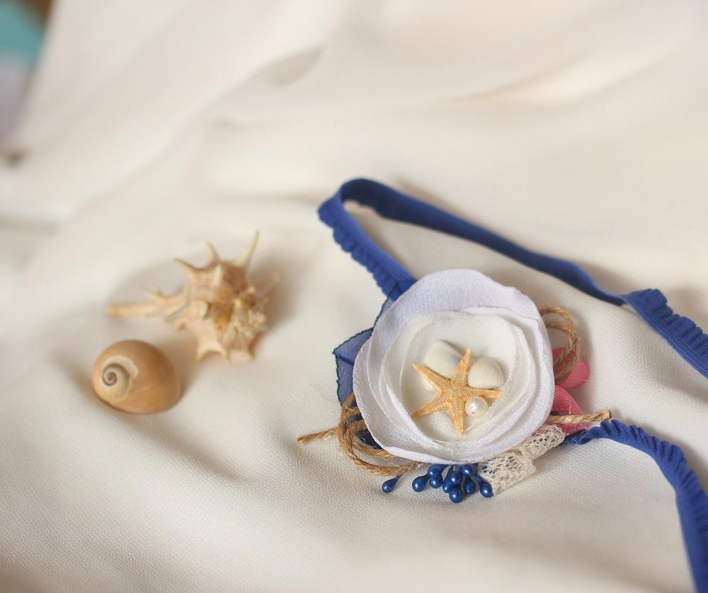 Лента за бебе с морски мотиви