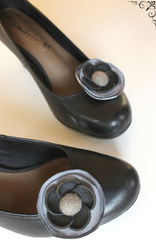 Клипс за обувки черно